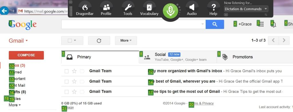 Dictate, edit and control directly in Gmail in your browser, all by voice!